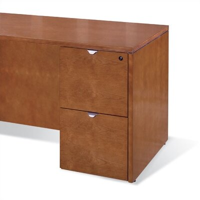 Lemasters 27 H x 15.5 W Desk File Pedestal Finish: Mahogany