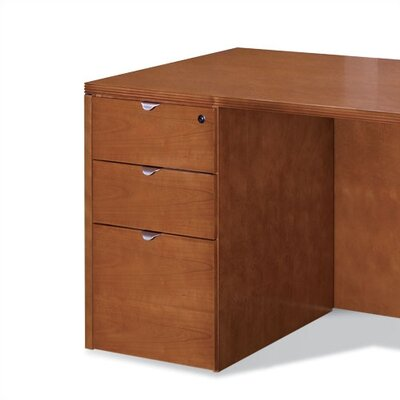 Lemasters 27 H x 15.5 W Desk File Pedestal Finish: Light Cherry