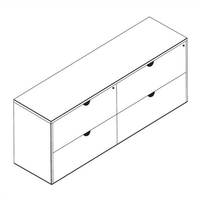 Amazing Double Lateral File Credenza Product Photo