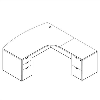 Extended Corner L Shape Executive Desk Product Picture 1181