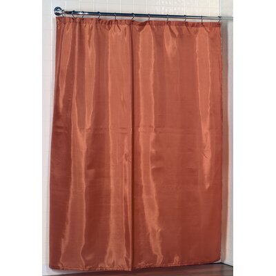 Broussard Polyester Shower Curtain Color: Orange