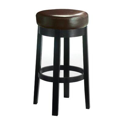 "Nicholas 30"" Swivel Bar Stool Upholstery: Brown DBHC5522 27433720"