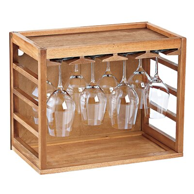Kizer Tabletop Wine Glass Rack Finish: Natural