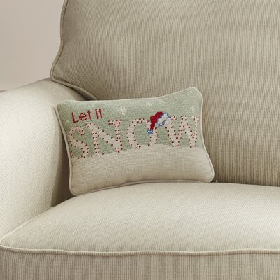 Crossfell Let it Snow Wool Lumbar Pillow