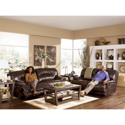 Tankersley Leather Reclining Loveseat Type: Power