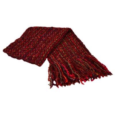 Godbold Decorative Woven Throw Color: Garnet