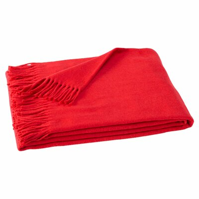 Layman Cotton and Soft Acrylic Solid Throw Color: True Red