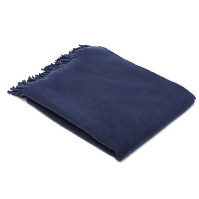 Layman Cotton and Soft Acrylic Solid Throw Color: Deep Navy