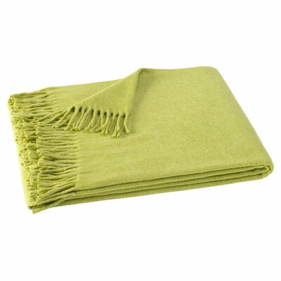 Layman Cotton and Soft Acrylic Solid Throw Color: Tarragon Green