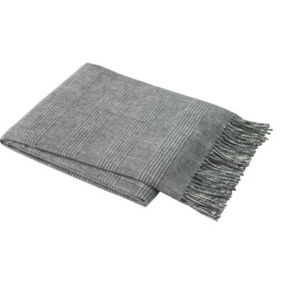 Holleman Plaid Throw Blanket Color: Dark Gray