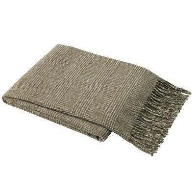Holleman Plaid Throw Blanket Color: Cappuccino