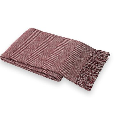 Holleman Plaid Throw Blanket Color: Merlot