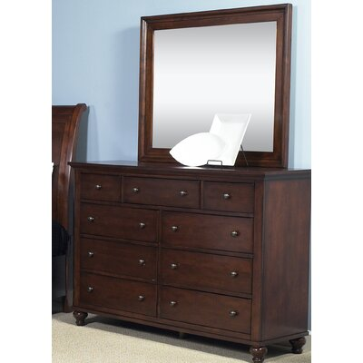 Garrick 9 Drawer Dresser with Mirror