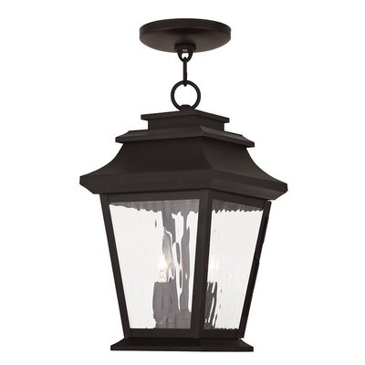Campfield 2-Light Outdoor Hanging Lantern Finish: Bronze