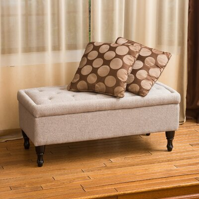 Higginbotham Upholstered Storage Bench Upholstery: Mixed Grey