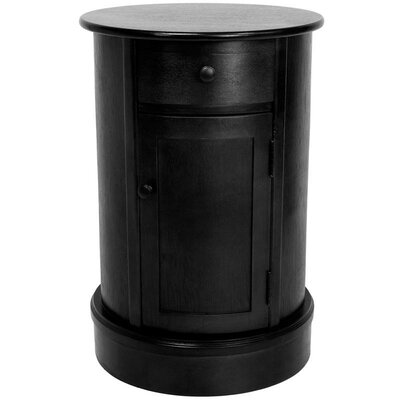 Gaylord 1 Drawer Nightstand Finish: Black