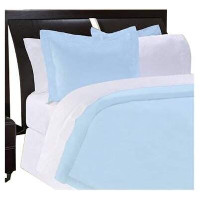 Shaeffer 3 Piece Reversible Duvet Cover Set Size: King, Color: Blue