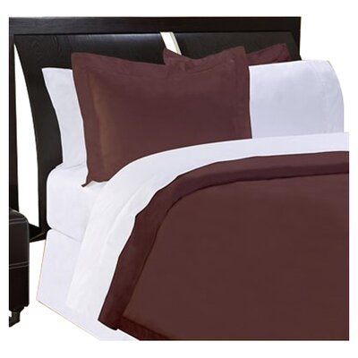 Shaeffer 3 Piece Reversible Duvet Cover Set Size: King, Color: Chocolate
