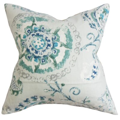 Haydenville Linen Throw Pillow Color: Peacock, Size: 18x18