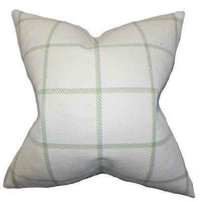 Temples Plaid Cotton Throw Pillow Color: Meadow, Size: 18x18