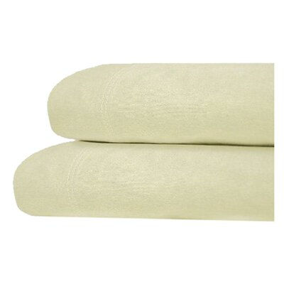 Brimmer Deep Pocket Flannel Cotton Sheet Set Size: Full, Color: Ivory