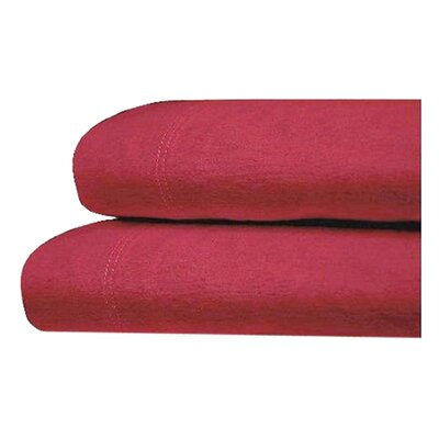 Brimmer Deep Pocket Flannel Cotton Sheet Set Size: Queen, Color: Carmine Red