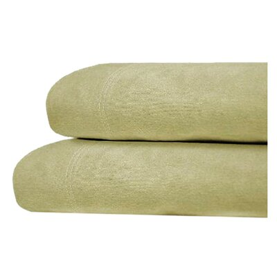 Brimmer Deep Pocket Flannel Cotton Sheet Set Size: Full, Color: Moss Green
