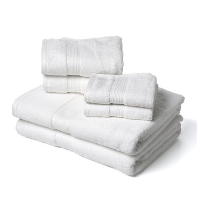 Bloomberg 100% Supima Cotton 6-Piece Towel Set Color: White