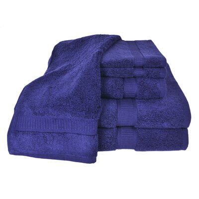 Bloomberg 100% Supima Cotton 6-Piece Towel Set Color: Midnight Blue