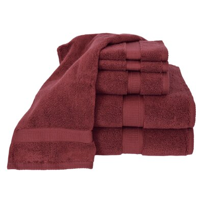 Bloomberg 100% Supima Cotton 6-Piece Towel Set Color: Burgundy