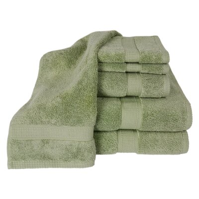 Bloomberg 100% Supima Cotton 6-Piece Towel Set Color: Sage