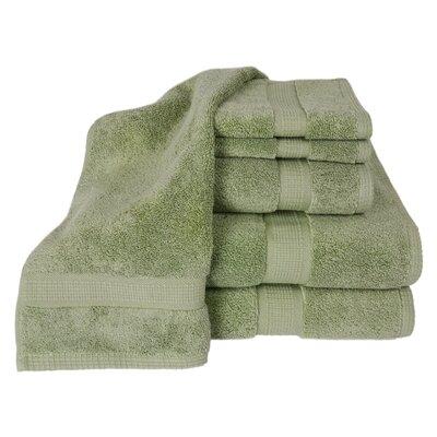 Bloomberg 100% Supima Cotton 6-Piece Towel Set Color: Sage
