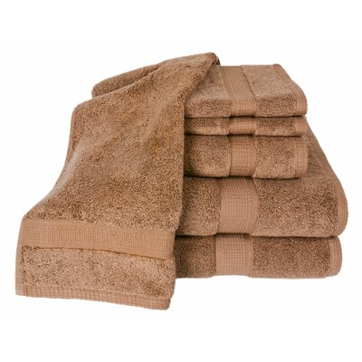 Bloomberg 100% Supima Cotton 6-Piece Towel Set Color: Cocoa