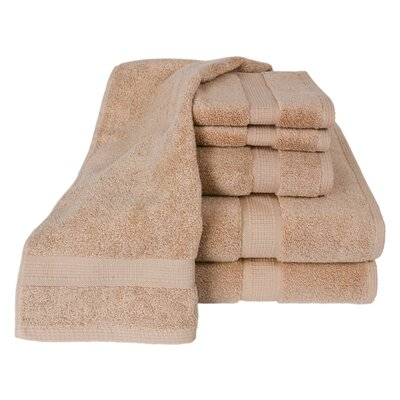 Bloomberg 100% Supima Cotton 6-Piece Towel Set Color: Sand