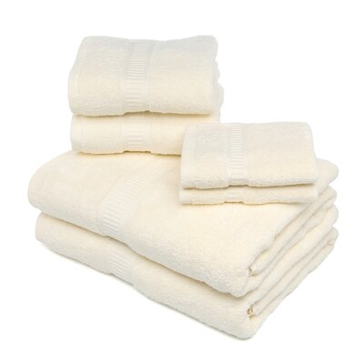 Bloomberg 100% Supima Cotton 6-Piece Towel Set Color: Ivory