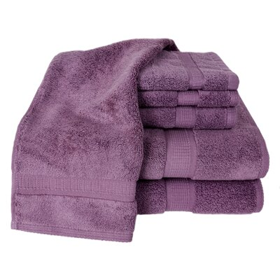 Bloomberg 100% Supima Cotton 6-Piece Towel Set Color: Amethyst