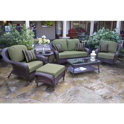 Carlock 6 Piece Deep Seating Group with Cushion