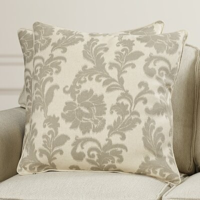 Easterwood 100% Cotton Throw Pillow Size: 22 H x 22 W, Color: Damask Grey