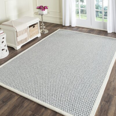 Natural Fiber Silver/Gray Area Rug Rug Size: Rectangle 4 x 6