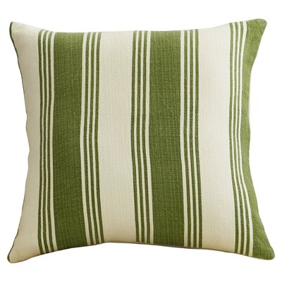 Fagan Cotton Throw Pillow Size: 22 H x 22 W x 4 D, Color: Olive/Ivory