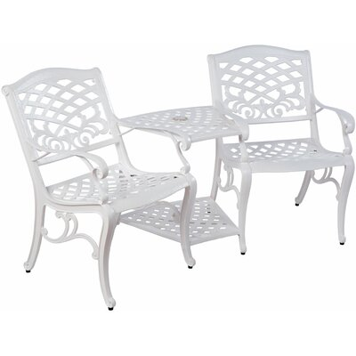 Jacoby Aluminum Tete-a-Tete Bench Finish: White