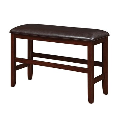 Mangels Upholstered Dining Bench in Dark Brown