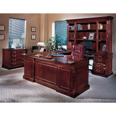 Flannagan Traditional U Shape Executive Desk Office Suite Product Photo 4645