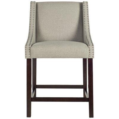 Dunigan 39.5 Bar Stool Upholstery: Light Gray