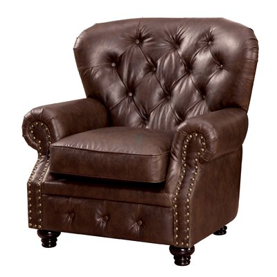 Lindstrom Tufted Leatherette Arm Chair