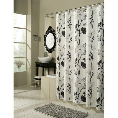 Corwin Cassandra Shower Curtain Color: Black / White