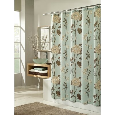 Corwin Cassandra Shower Curtain Color: Blue