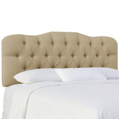 Cockerham Tufted Upholstery Panel Headboard Size: Twin, Upholstery: Klein Ricepaper