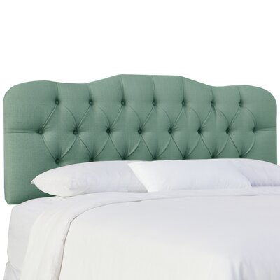 Cockerham Tufted Upholstery Panel Headboard Size: Twin, Upholstery: Klein Laguna