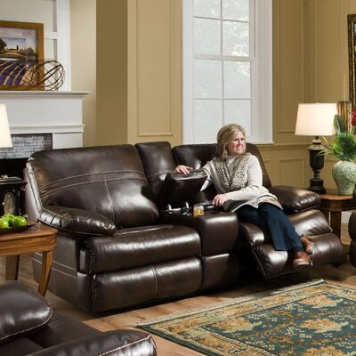 Simmons Upholstery Obryan Double Motion Console Reclining Loveseat